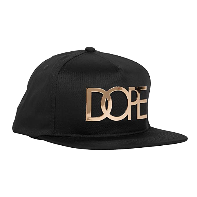 buy popular 51503 1ba33 DOPE 24K Gold Logo Snapback Hat One Size Black at Amazon Men s Clothing  store