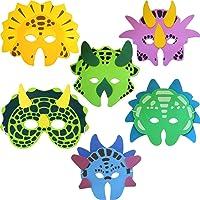 Ark Toys Ensemble de 6 masques en mousse Dinosaures