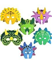 Dinosaur Foam Masks, 6 supplied