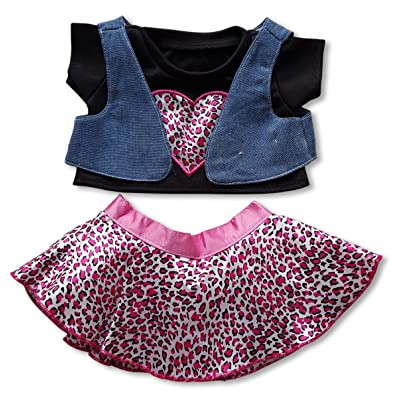 "Wild Child Outfit Fits Most 14"" - 18"" Build-a-Bear and Make Your Own Stuffed Animals: Toys & Games"