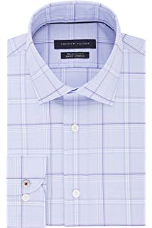 b6d5ee769 Tommy Hilfiger Men's Dress Shirt Stretch Slim Fit Solid at Amazon ...
