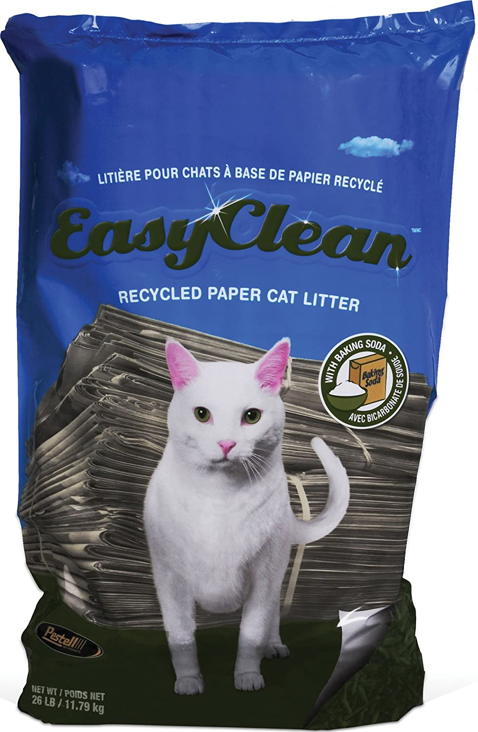 Easy Clean Paper Pellet Cat Litter Bag, 26-Pound
