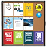 "Quartet Enclosed Cork Bulletin Board, 38"" x"