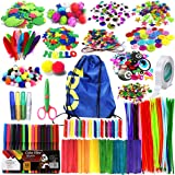 Arts and Crafts Supplies for Kids Girls - Toddler DIY Craft Art Supply Set with Storage Bag for Ages 4 5 6 7 8 9, Craft…