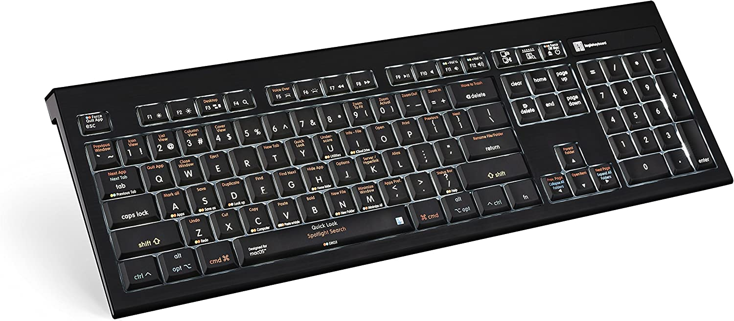 LKBU-OSX-AMBH-US LogicKeyboard keyboard compatible with Mac Os 10.6 and later versions Part Number