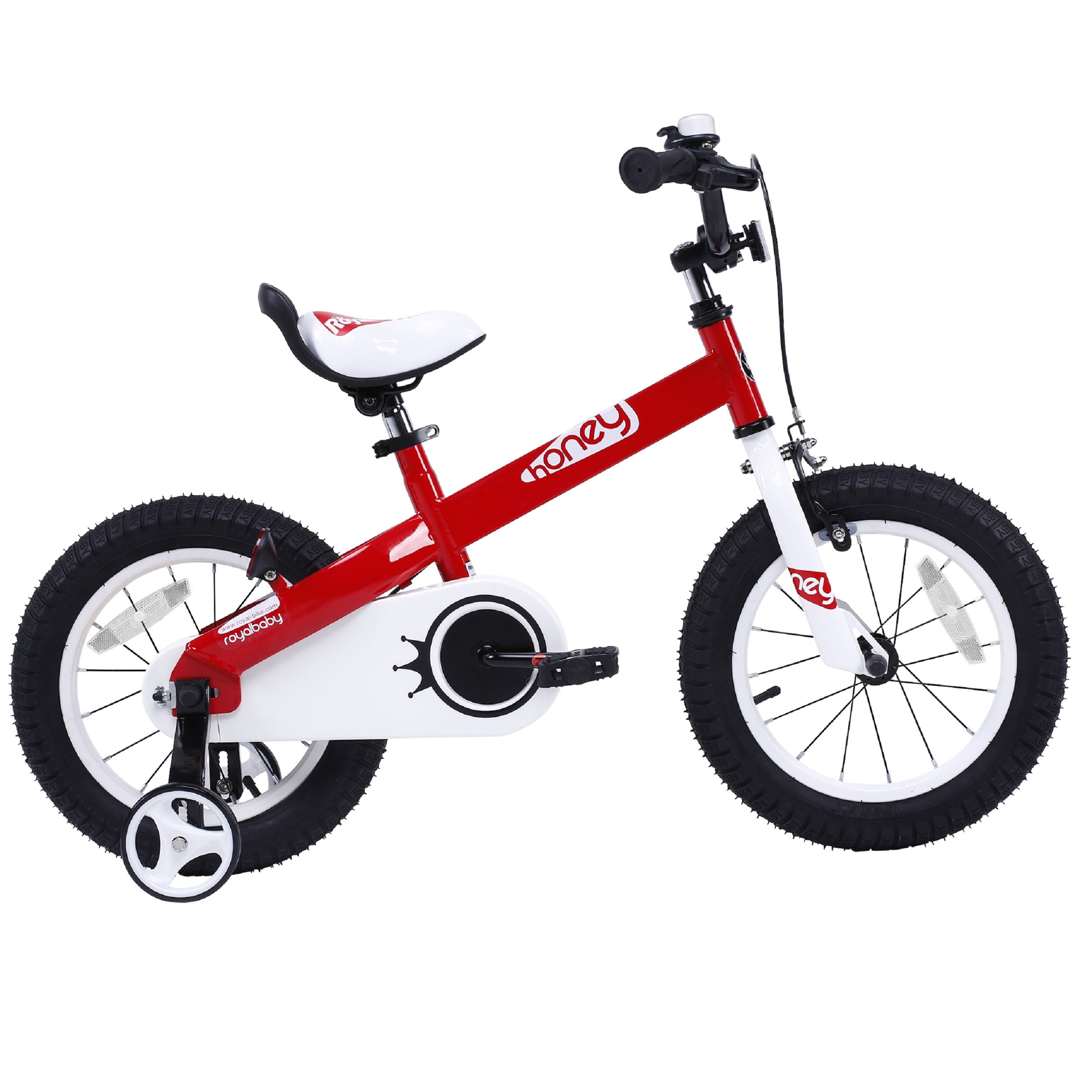 RoyalBaby CubeTube Kid's bikes, unisex children's bikes with training wheels, various trendy features, gifts for fashionable boys & girls, Red Honey, 14 inch by Royalbaby