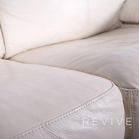 Machalke Crack Designer Leder Sofa Creme Weiß Zweisitzer ...