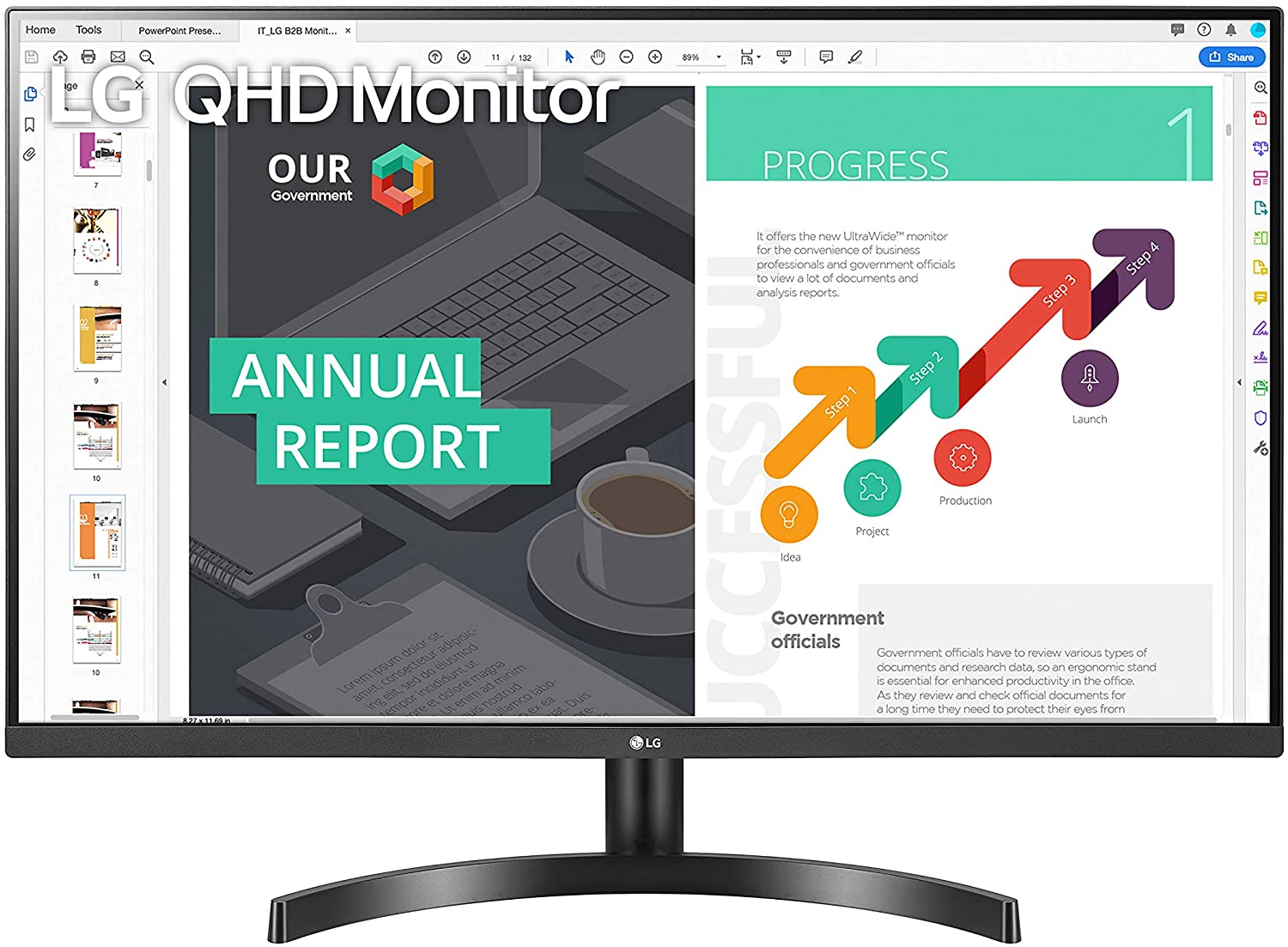 LG 32QN600-B 32″ 2560 x 1440 IPS Monitor with HDR 10