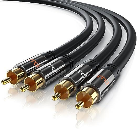 104 opinioni per Primewire- 10,0m HQ Audio Cavo | RCA Stereo Cavo | Connettori 2x RCA maschio a