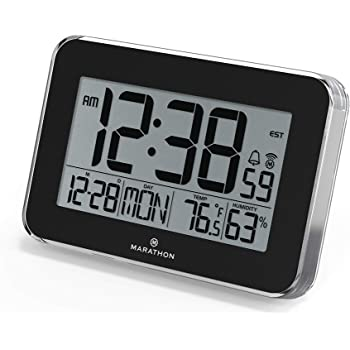 Amazon.com: Atomic LCD Wall Clock with Temperature Date