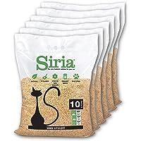 Siria 60 Litri~25,8 kg (Set 6 Sacchi da 10 Litri~4,3 kg) Sabbia Lettiera Gatti Agglomerante e Vegetale