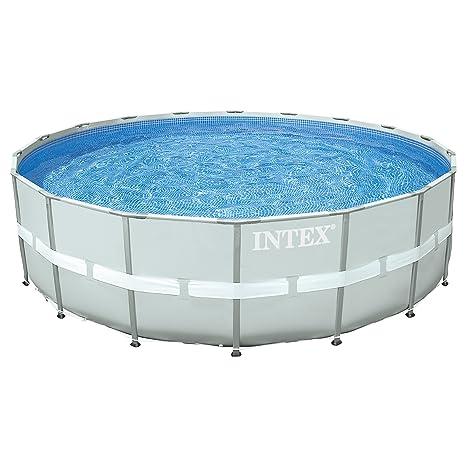 Intex Ultra Frame - Piscina Desmontable, 549 x 132 cm, con depuradora y complementos