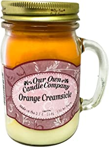 Our Own Candle Company Orange Creamsicle Scented 13 Ounce Mason Jar Candle