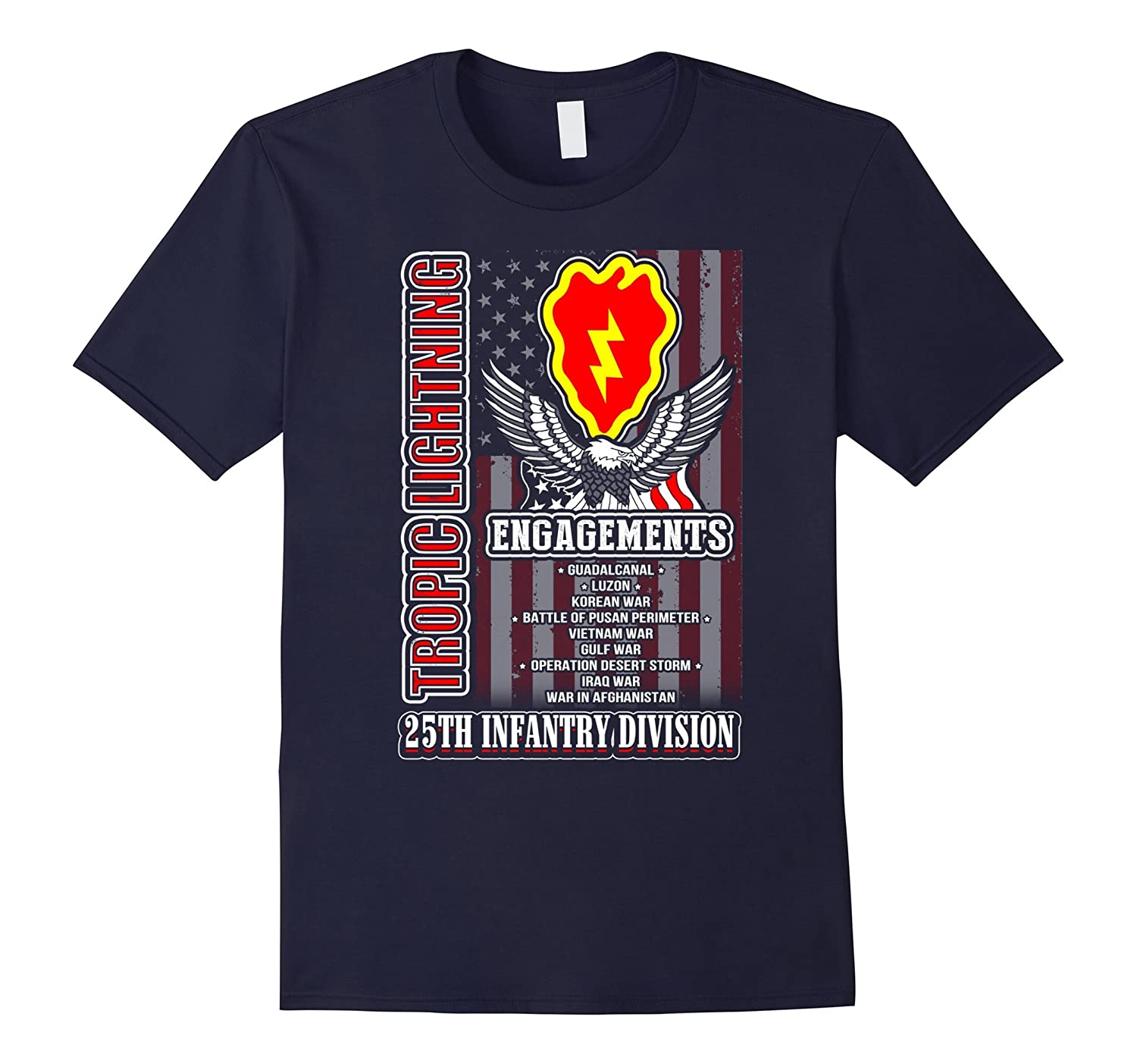 25th infantry division tshirt, flag 25th infantry division t-Art