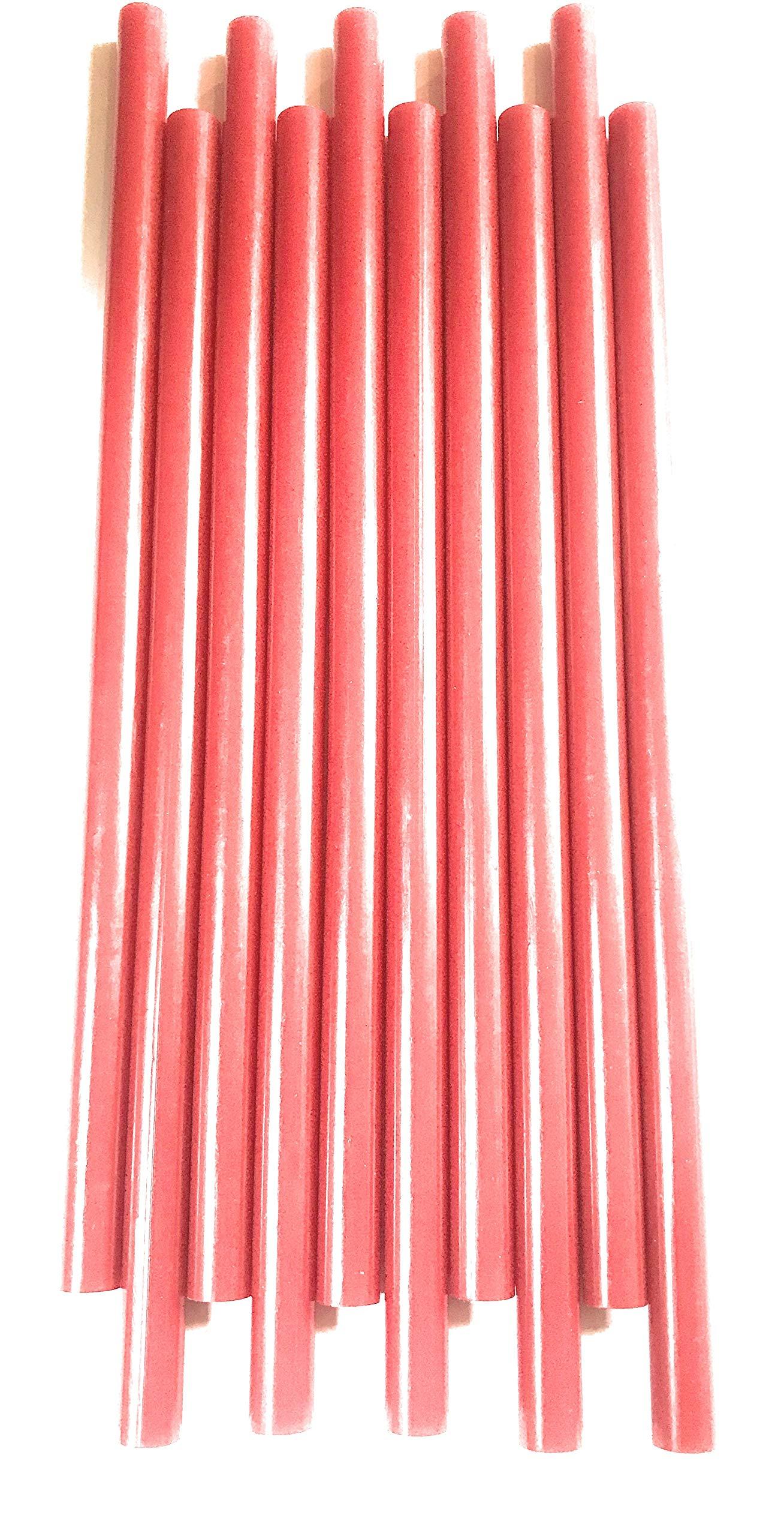 TOP Secret PDR SUMMER RED GLUE 10'' long 7/16'' Diameter HOT GLUE STICKS