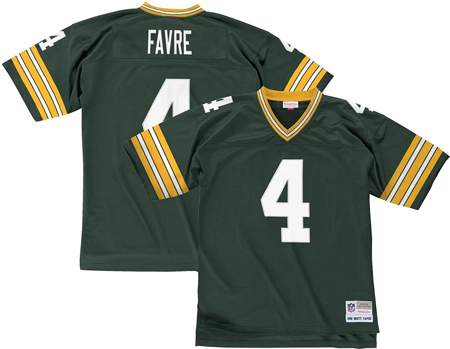 best sneakers 55cc4 1b956 Mitchell & Ness Brett Favre Green Bay Packers 1996 Throwback Jersey