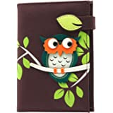 MENKAI Appliqued Animal & Plants Design Passport Holder