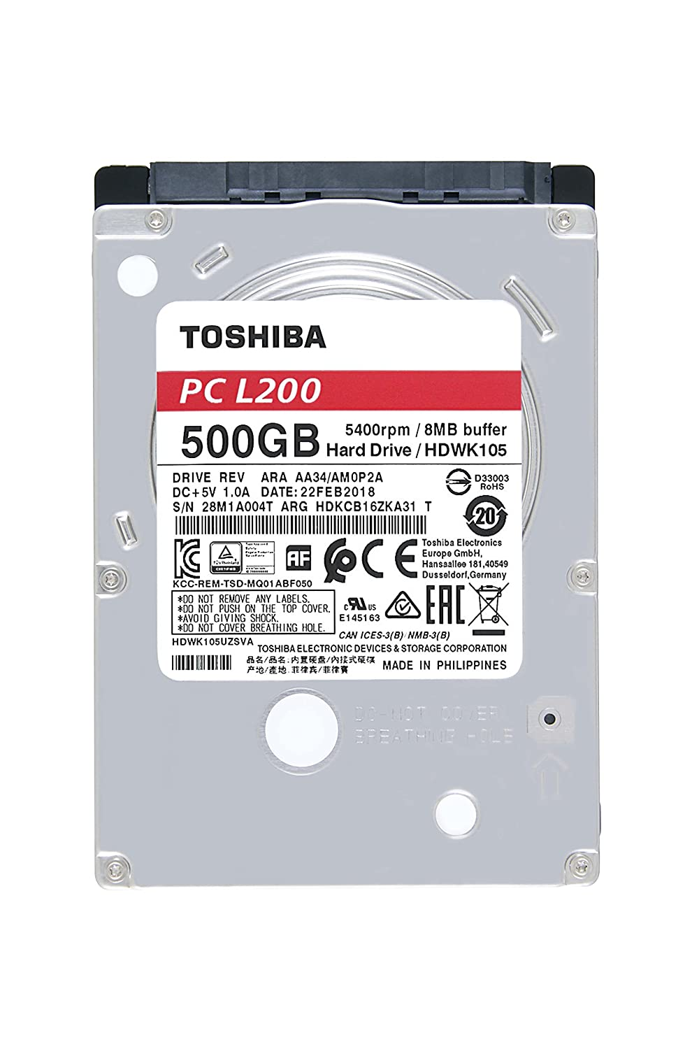 amazon com toshiba america electronic components inc l200 500gb rh amazon com