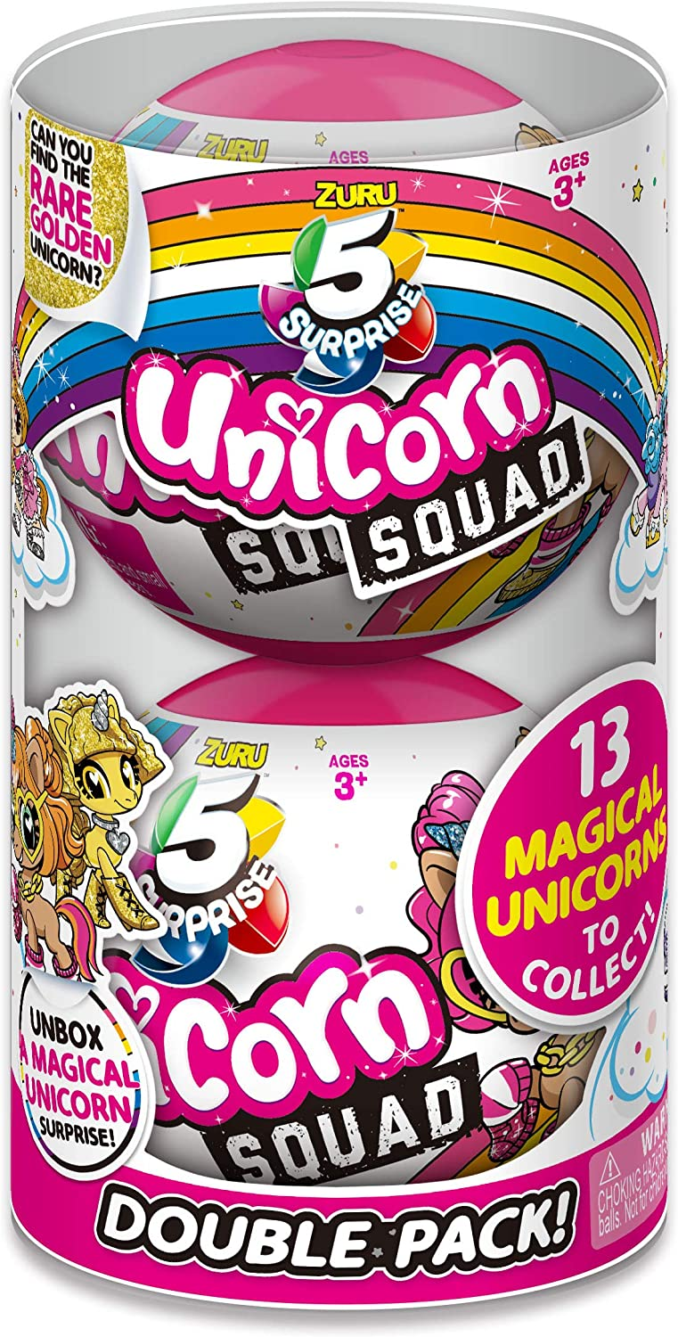 5 Surprise Unicorn Squad 2 Pack Mystery Collectible Capsule by ZURU