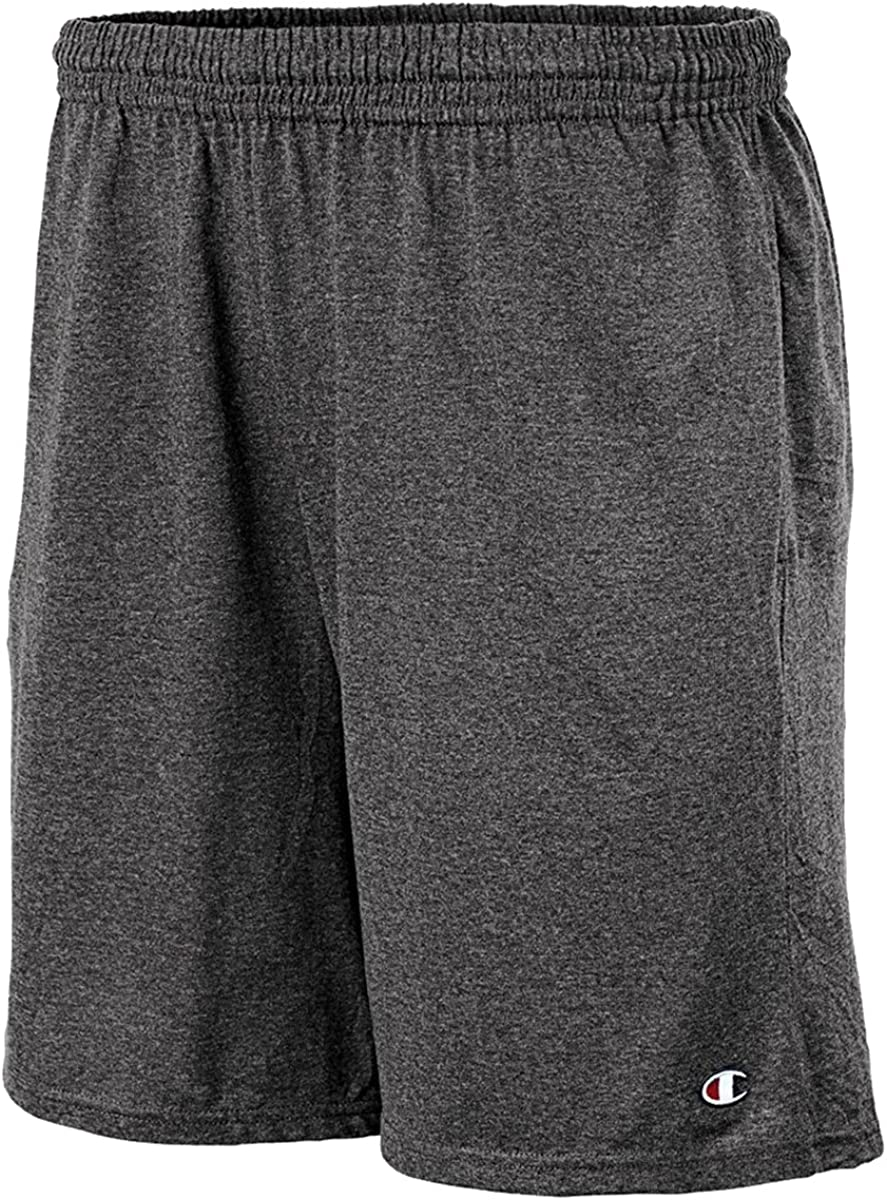 Champion Authentic Cotton 9-Inch Mens Shorts with Pockets/_Granite Heather