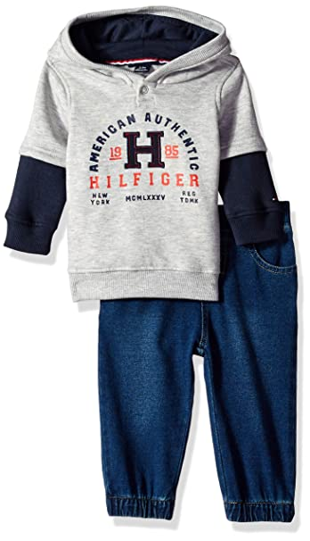 4f3062088 Amazon.com: Tommy Hilfiger Baby Boys 2 Pieces Pullover Pants Set: Clothing