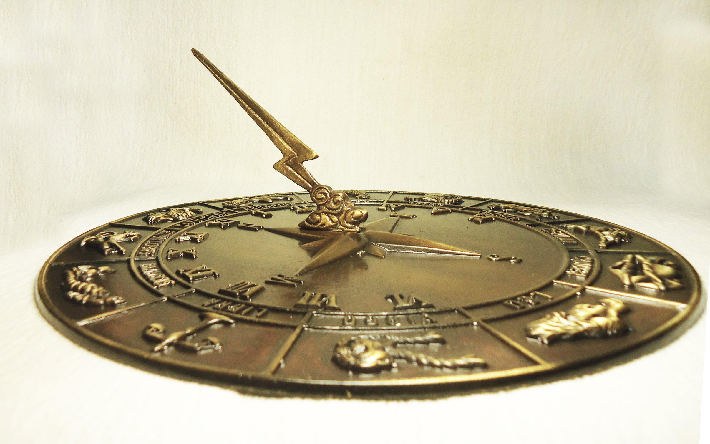 Brass Constellations Sundial - 12'' inches wide by Taiwan (Image #5)