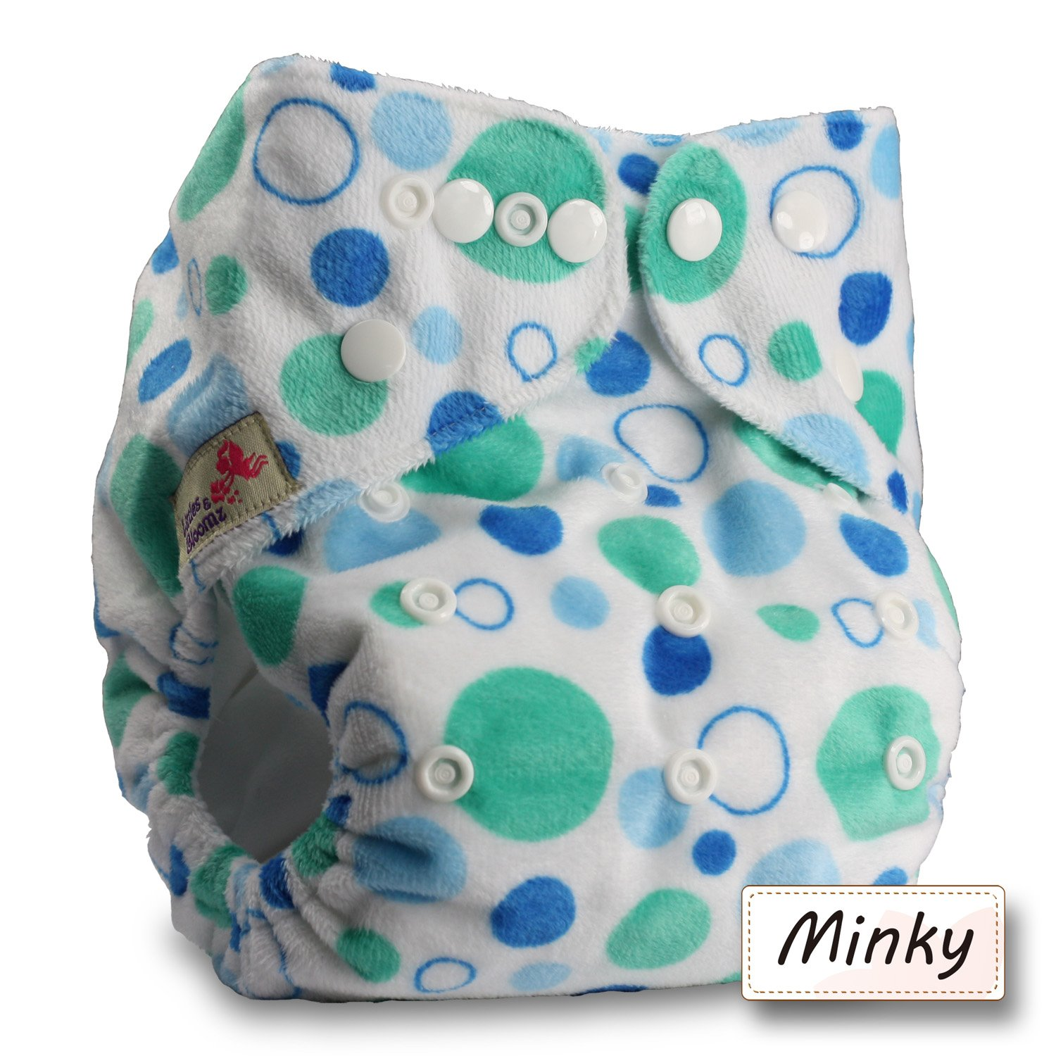 Reusable Pocket Cloth Nappy Littles /& Bloomz Set of 1 Without Insert Pattern 52 Fastener: Popper