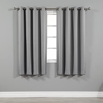 Best Home Fashion Thermal Insulated Blackout Curtains   Antique Bronze  Grommet Top   Grey   52u0026quot