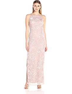 55fd394c52020 Aidan Mattox Women's Embellished Beaded Bodice Strapless Gown in ...