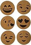 Emoji Cork Coasters (Set of 6)
