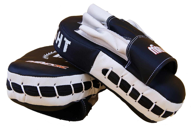 KIKFIT Boxing Pads Focus Mitts Hook /& Jab Target Gloves Rex Leather Curved MMA Punching Strike Muay Thai Training Punch Pad Kickboxing Martial Arts Kick Shield