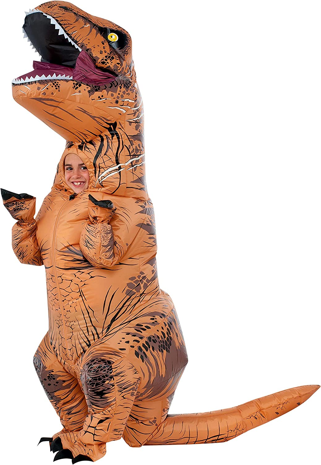 GOOSH Inflatable Dinosaur Costume Riding a T REX Air Blow up Deluxe Halloween Costume