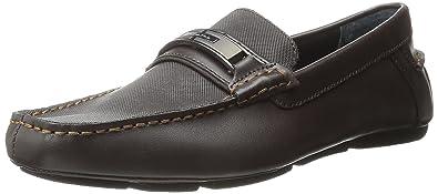 Calvin Klein Mens Mchale Diamond Leather SlipOn Loafer  FUKPPX605
