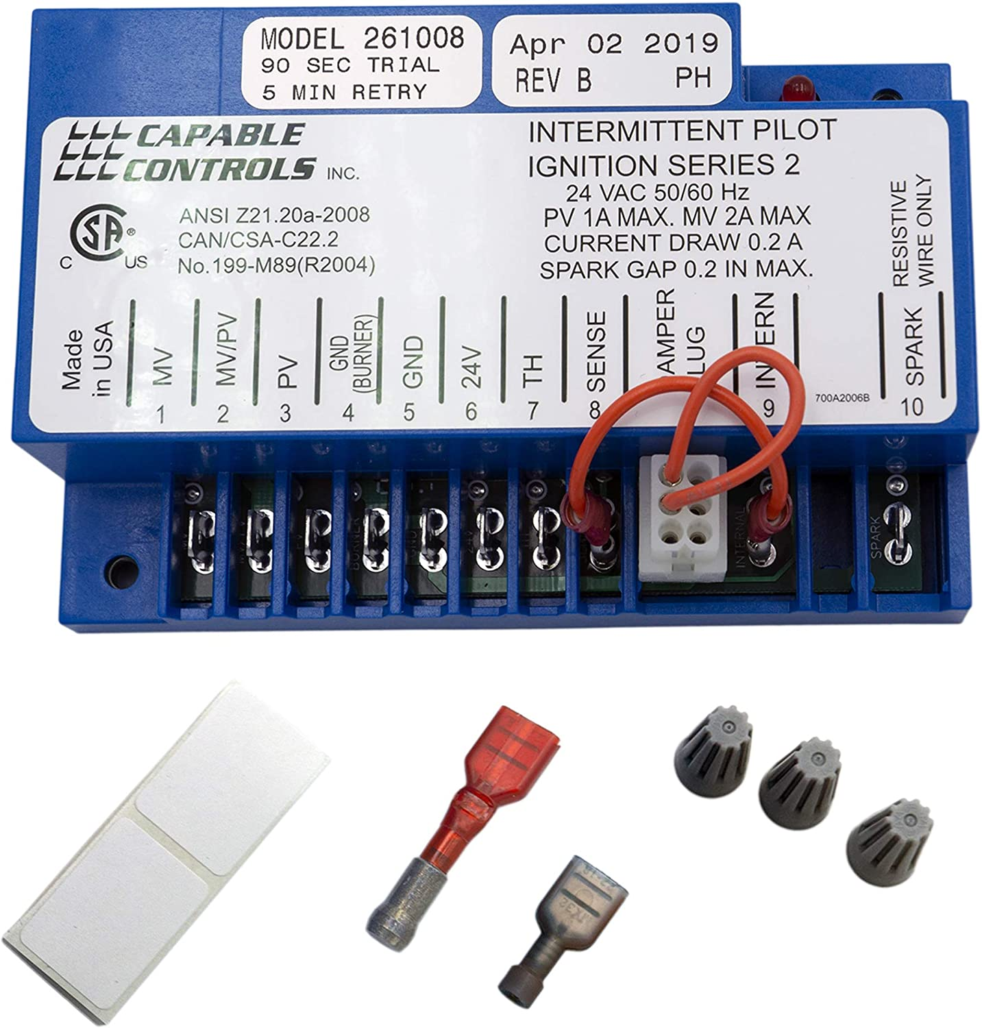 Supplying Demand S8610U1003 Furnace Ignition Control Replaces S8610U3009 Compatible With Honeywell