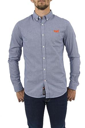 size 40 12cf2 58857 Superdry Premium Hemdkorb mit Knopfleiste und Langen Ärmeln ...