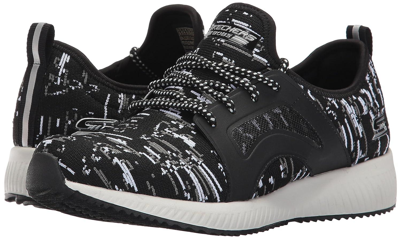 Skechers BOBS from Women's Bobs Squad-Double Dare Fashion Sneaker B01N5O5NA0 7.5 B(M) US|Black/White