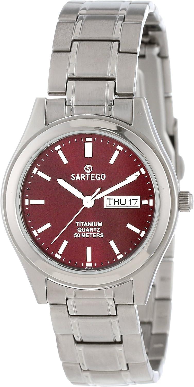 Sartego Men's SNT116 Barcelona Titanium Watch with Link Bracelet