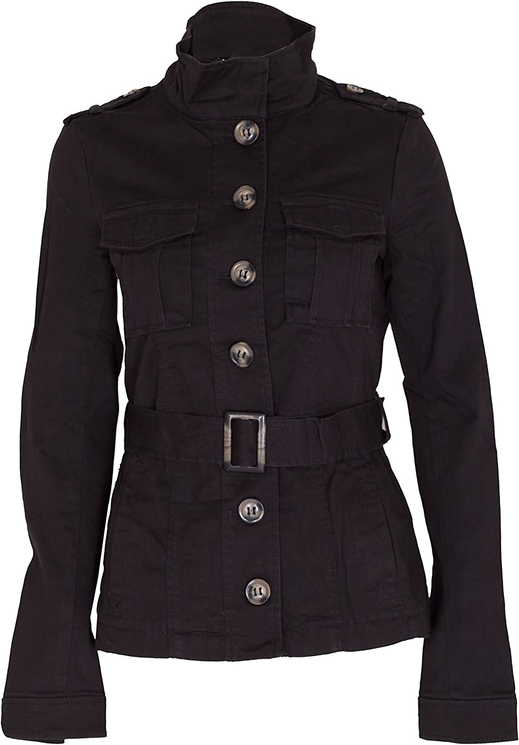 New Androse Teds Military Ladies Wool Coat Women Jacket Belt Trench Warm Outwear Gold Button Twill Black Purple Red UK 8-16