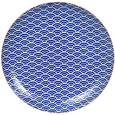 Tokyo Design Studio Starwave Dinner Plate - Small Wave - Blue/Pink at Amara