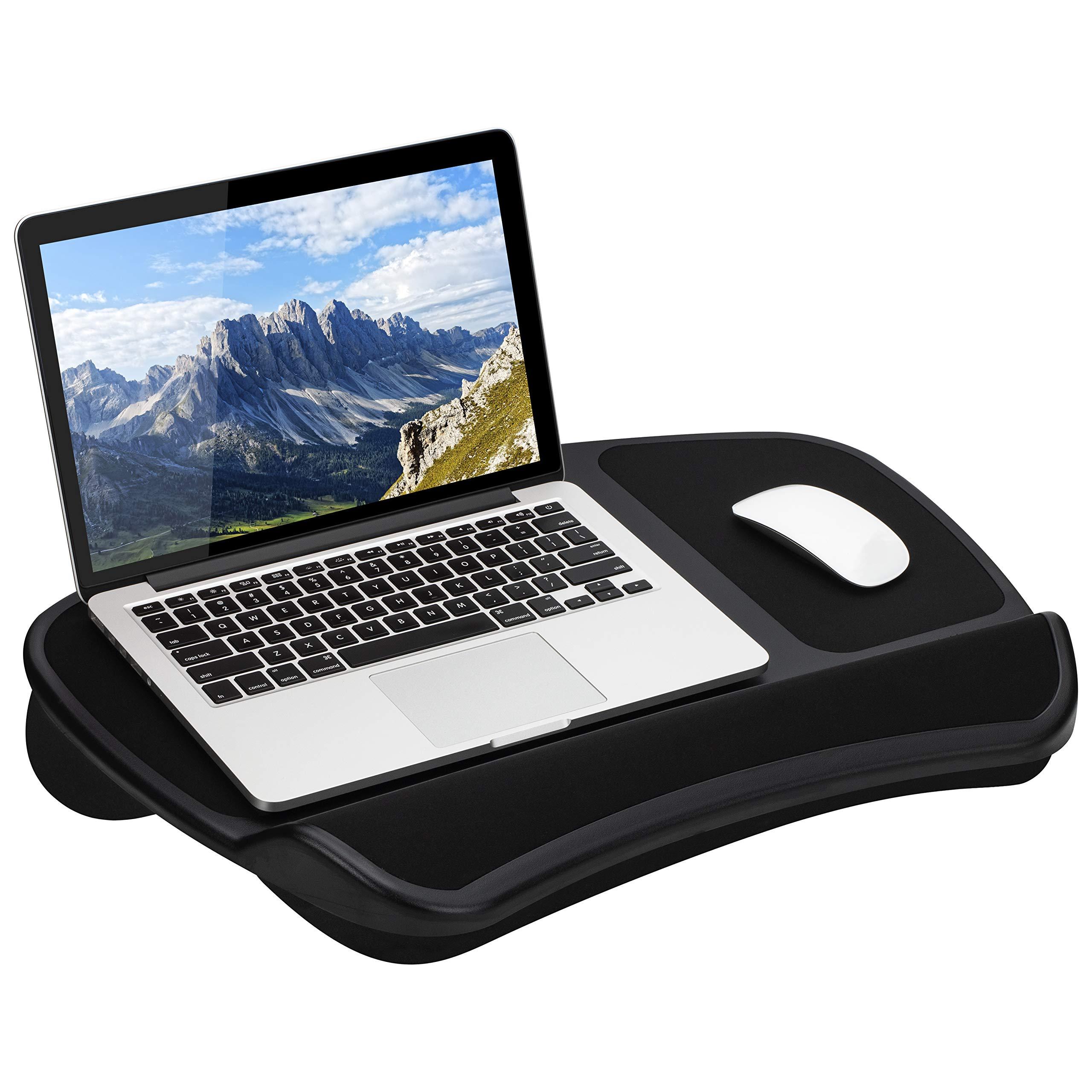 LapGear Original XL Laptop Lap Desk with Storage Pockets - Black - Style No. 45592 - US Patent No. D619,823 by LapGear