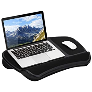 LapGear Original XL Laptop Lap Desk with Storage Pockets - Black - Style No. 45592 - US Patent No. D619,823