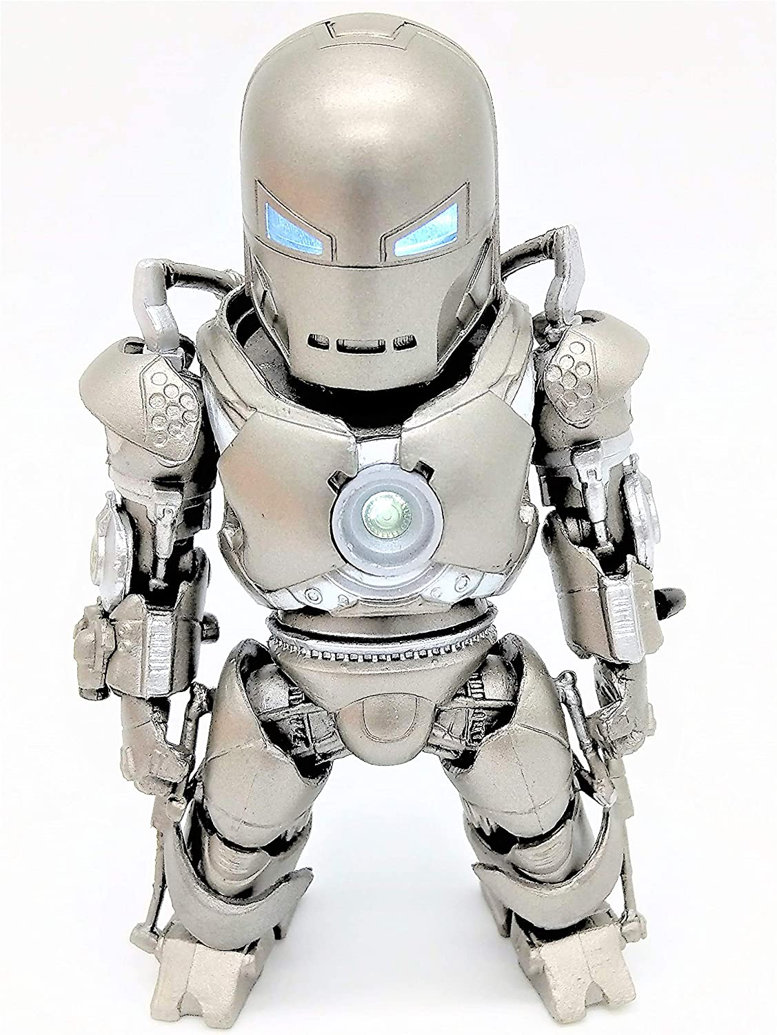 Prodigy Toys Silver Iron Man Action Figure Mark I with LED Arc Reactor - Ironman in its First Original Form! (Batteries Included)