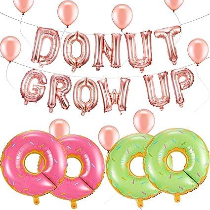 Amazon.com: Gejoy Donut Decoración de fiesta Donut Grow Up ...