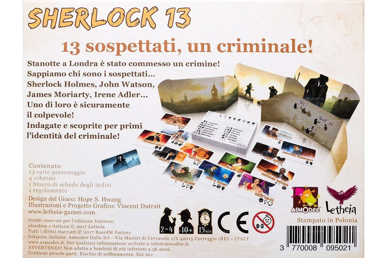 Asmodee Italia Sherlock 13 - Juego de Mesa, Color 7600: Amazon.es ...