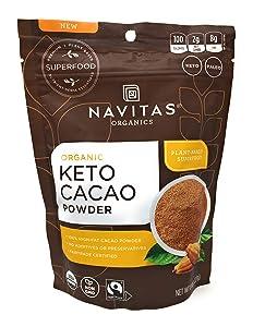 Navitas Naturals, Powder Cacao Keto, 8 Ounce