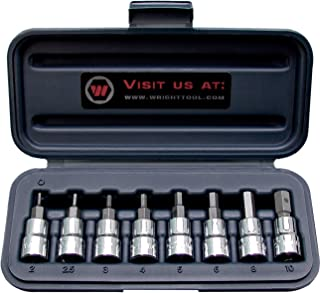 "product image for Wright Tool 360 3/8"" and 1/2"" Drive Hex Bit Sockets (9-Piece)"