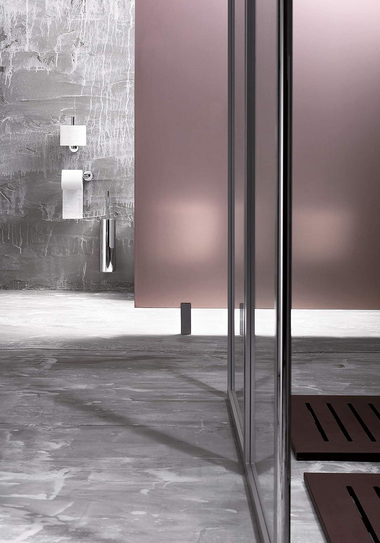 INDA My Love Porte-Brosse WC Mural ou Terre 9 x 9 x 40 cm Cromato//Grigio