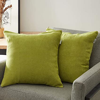 Topfinel juego 2 Fundas cojines sofas de Algodón Lino duradero Almohadas Decorativa de color sólido Para Sala de Estar, sofás, camas, sillas 55x55cm ...