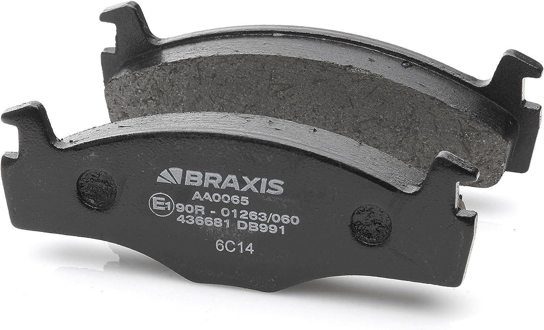 conjunto de 4 BRAXIS AA0065 Pastillas de freno delantero