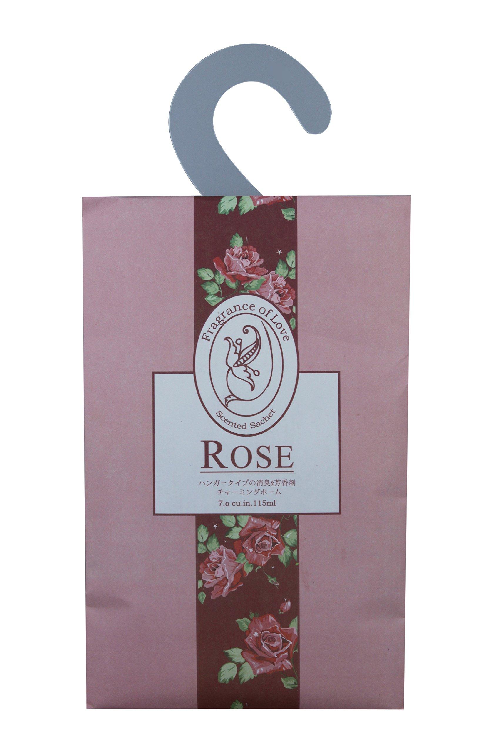 Feel Fragrance Hanging Scent Sachets for Closet,pack of 3 (Rose)